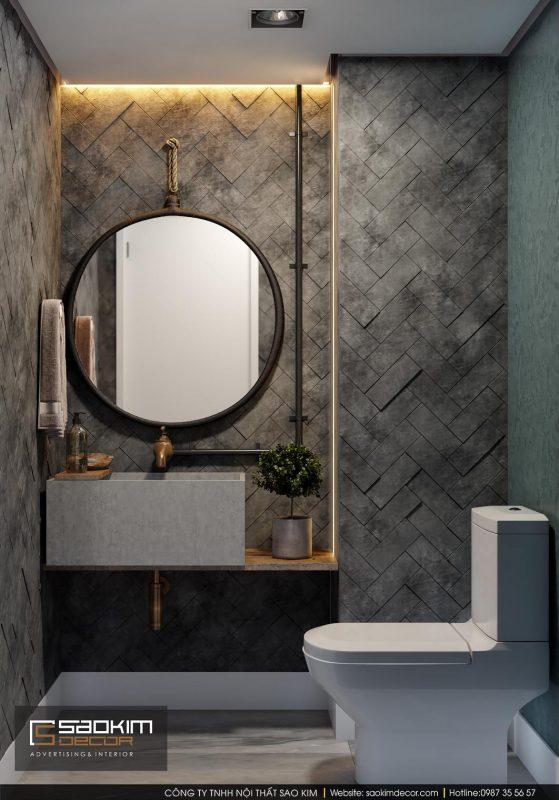 Thiết kế nội thất phòng tắm hiện đại và tiện nghi