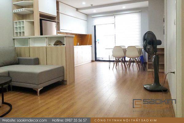 Thiết kế thi công phòng khách căn hộ chung cư