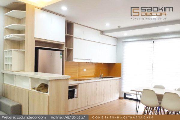 Thiết kế thi công phòng bếp căn hộ chung cư FLC Garden City