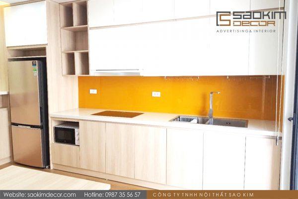 Thiết kế thi công phòng bếp căn hộ chung cư