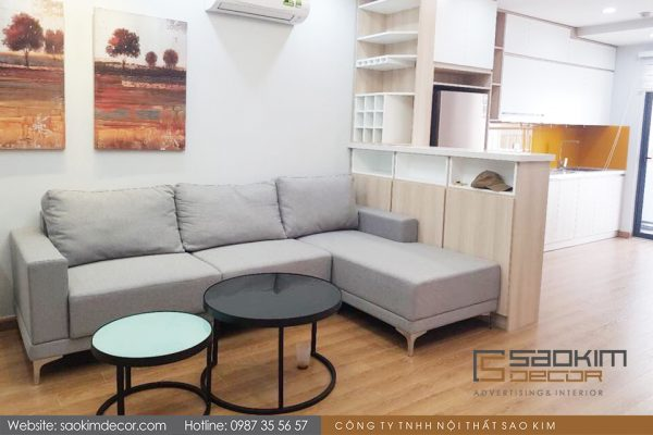 Thiết kế thi công căn hộ chung cư 98m2 FLC Garden City