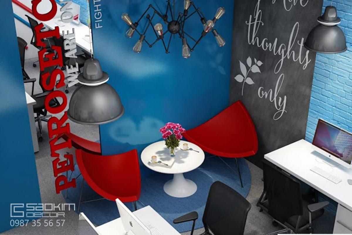 Thiết kế nội thất văn phòng làm việc - Petrosetco