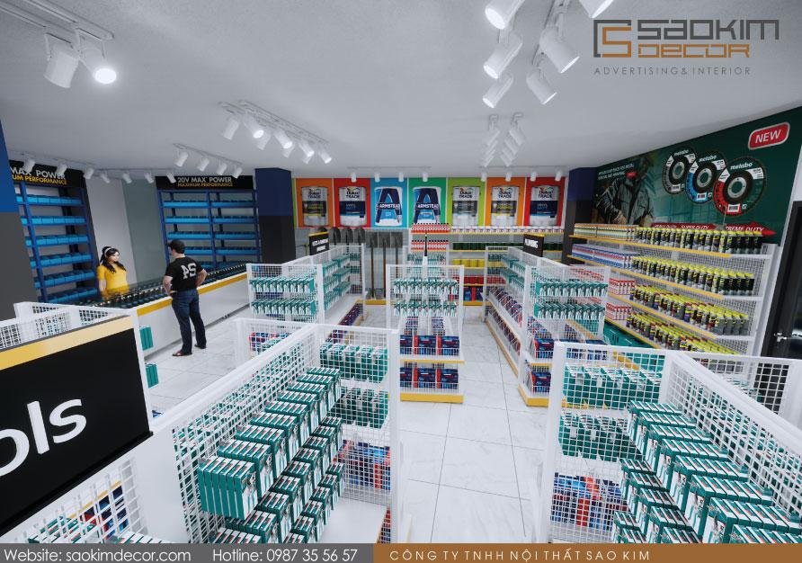 Thiết kế siêu thị mini đẹp