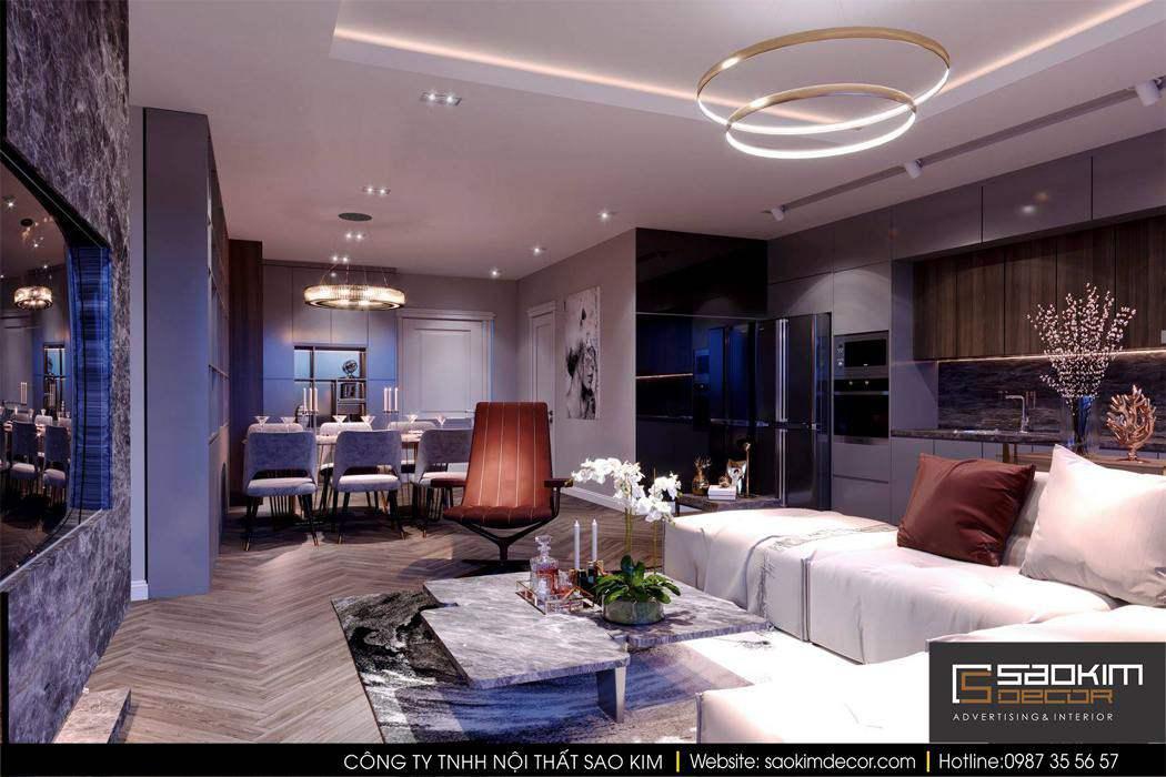 Thiết kế nội thất chung cư cao cấp Mipec Riverside