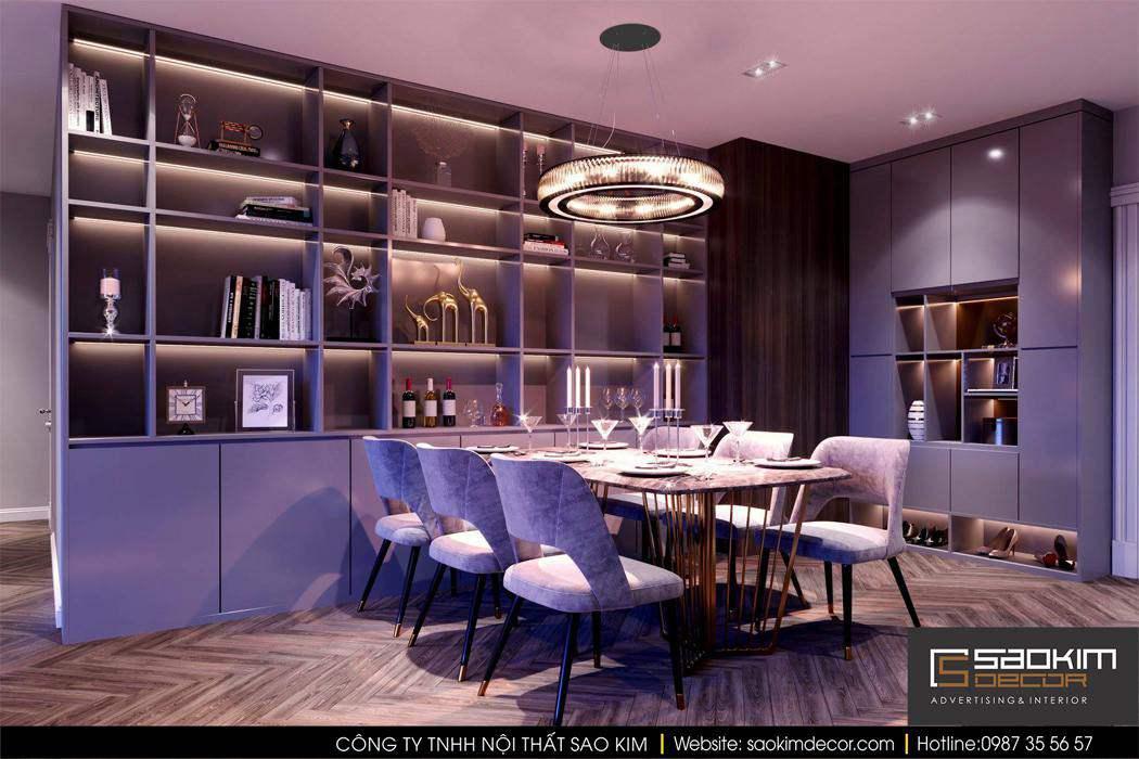 Thiết kế phòng bếp chung cư cao cấp Mipec Riverside