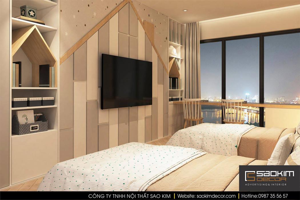 Thiết kế phòng ngủ chung cư cho bé - Mipec Riverside