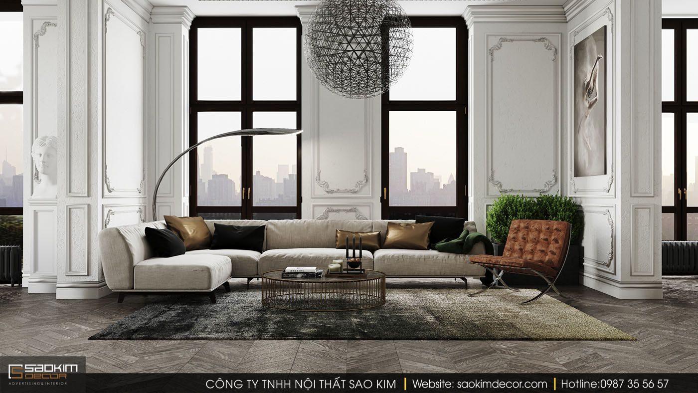 Điều đó đã tạo cảm hứng cho các kiến trúc sư tạo nên thiết kế nội thất chung cư phong cách tân cổ điển hiện đại ngày nay