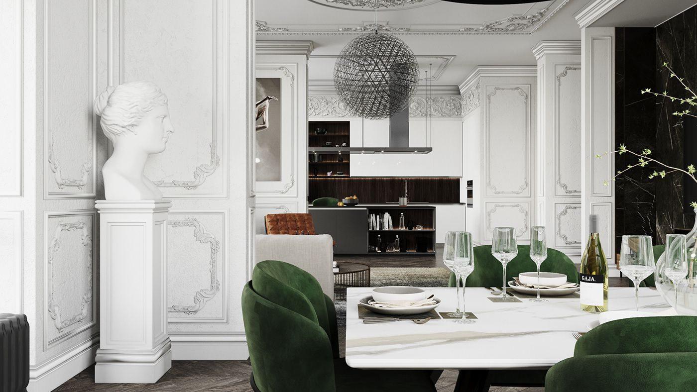 Thiết kế nội thất chung cư tân cổ điển kiểu Anh quý phái
