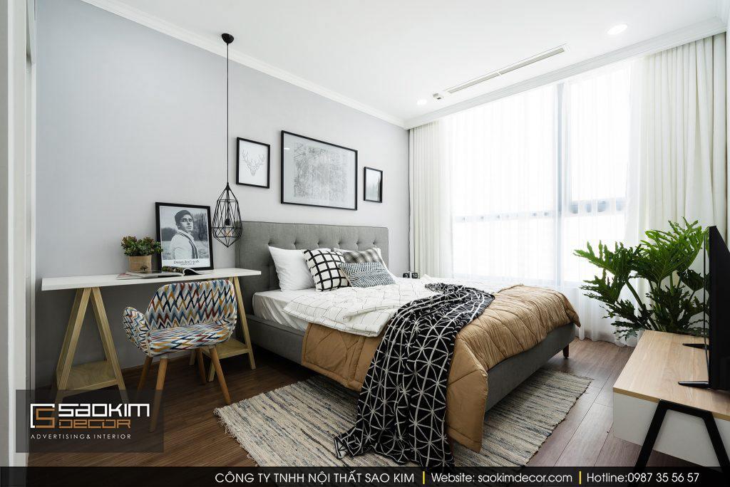 Thiết kế phòng ngủ chung cư scandinavian
