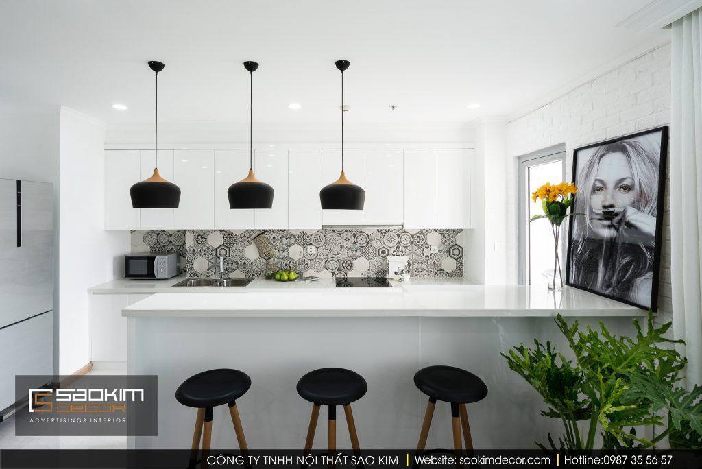 Thiết kế phòng bếp chung cư scandinavian