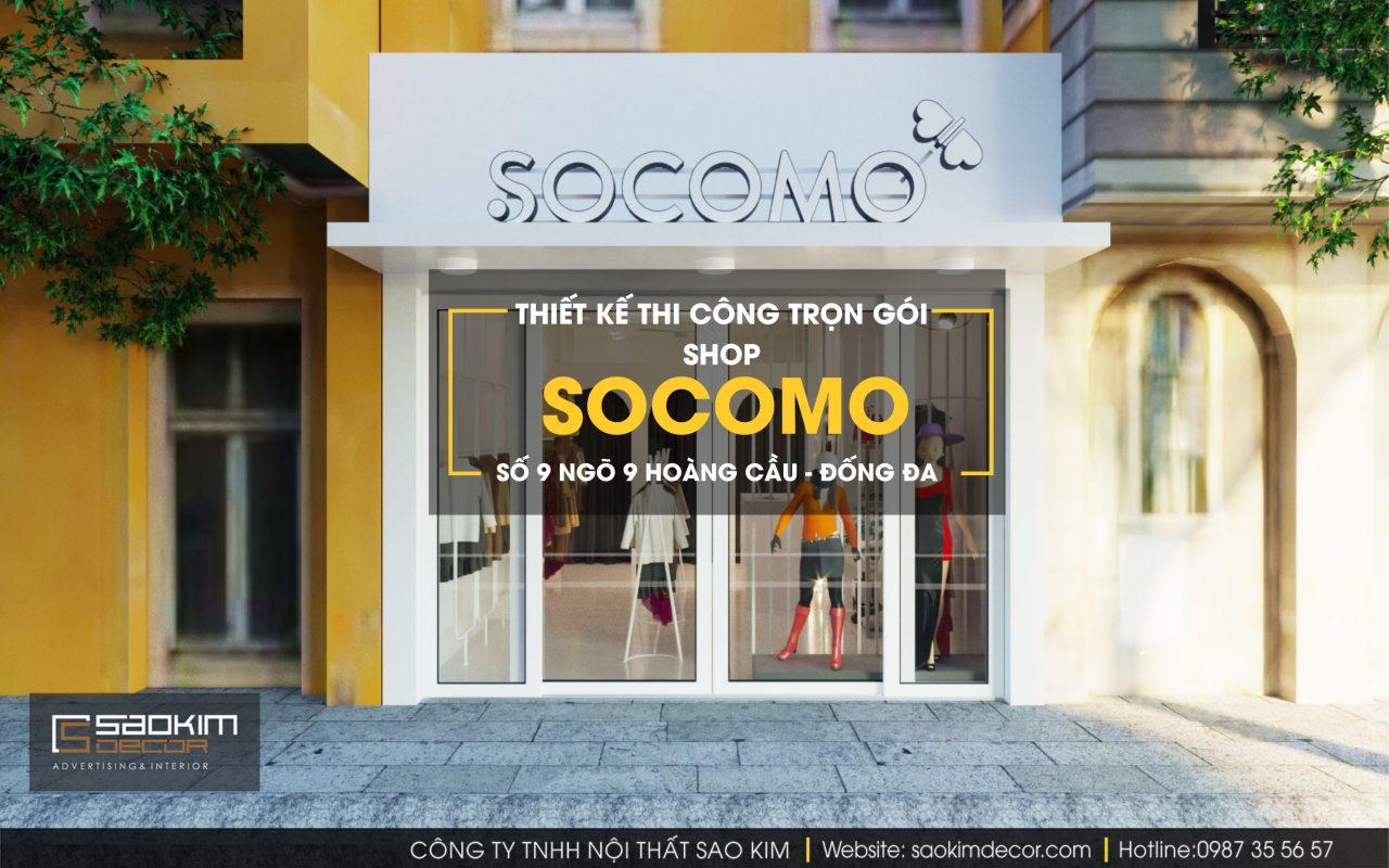 Dự án thiết kế nội thất shop Socomo mà Sao Kim đã hoàn thiện