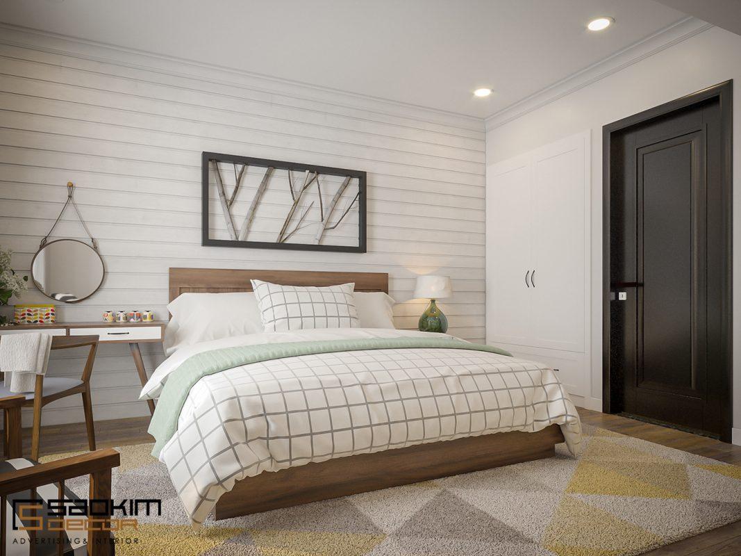Để đảm bảo một không gian nghỉ ngơi thoải mái nhất, không có quá nhiều đồ nội thất xuất hiện trong căn phòng ngủ