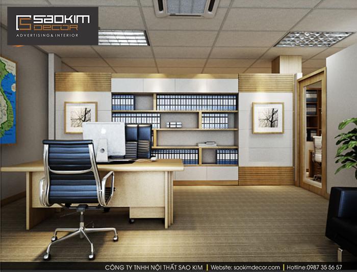Thiết kế phòng giám đốc hiện đại Tập đoàn quốc tế ABC