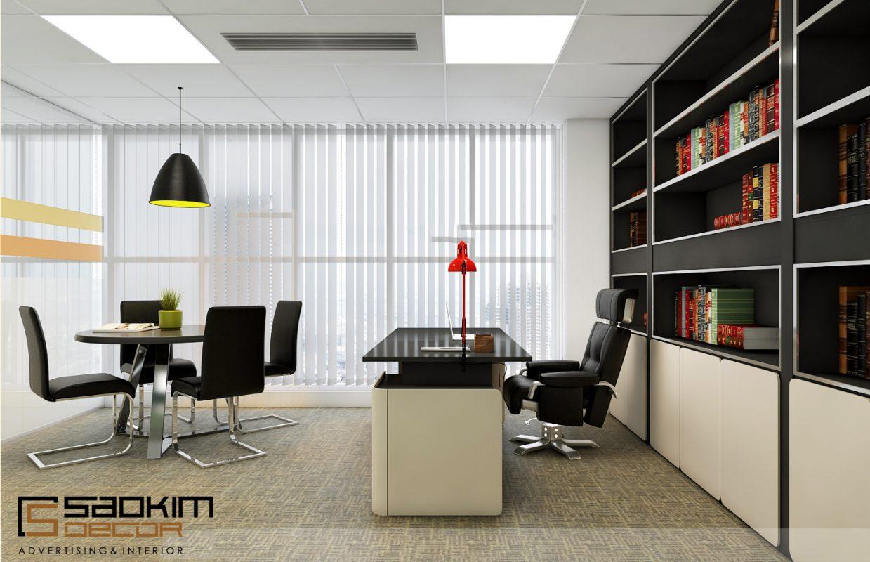 Ghế của giám đốc thiết kế to và lớn để tạo ra được nét hoành tráng và uy quyền