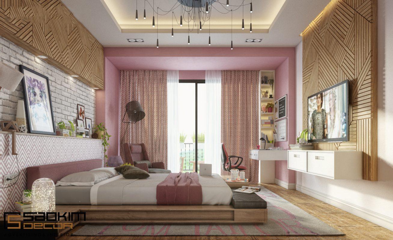 Màu sử dụng trong thiết kế chung cư cho người mệnh hỏa là xanh lá, đỏ, cam đỏ, cam, hồng