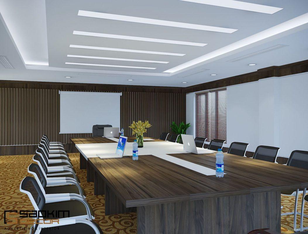 Mẫu thiết kế nội thất phòng họp mộc mạc, linh hoạt
