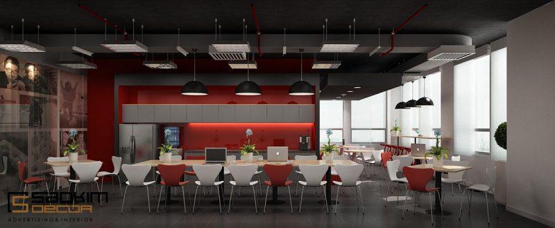 Mẫu thiết kế nội thất phòng họp đẹp, phá cách, trẻ trung
