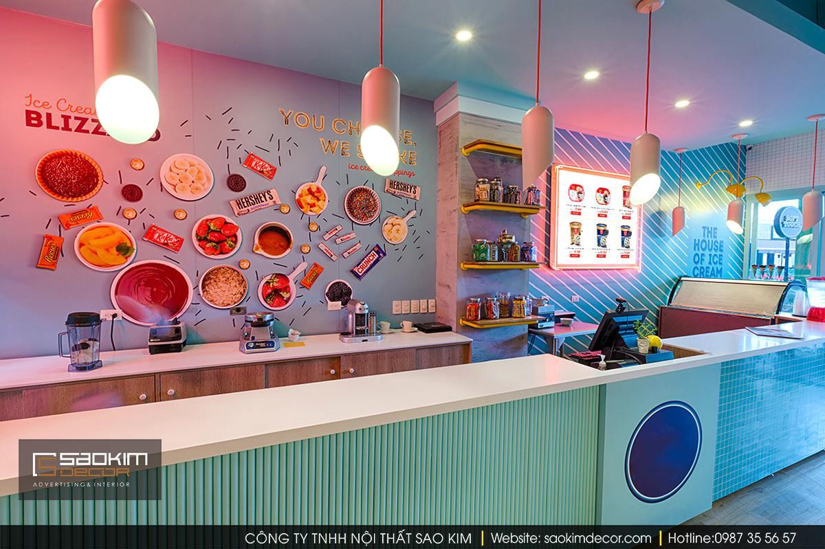 Thiết kế cửa hàng nhỏ - kem Soft Touch