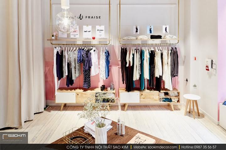 Thiết kế nội thất shop đầy tiện nghi