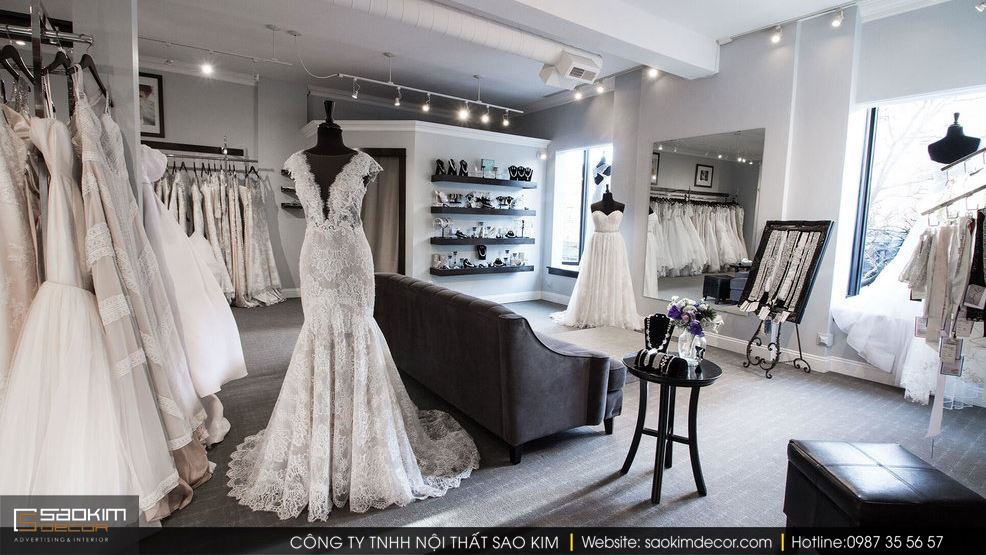 Gương giúp không gianthiết kế nội thất showroom thông thoáng, rộng rãi và lung linh hơn
