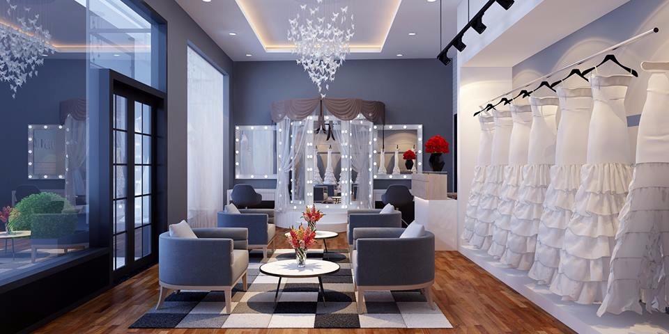 Khu trang điểm và khu nghỉ chờ của khách hàng thì bạn cần bố trí ở nơi có nhiều ánh sáng