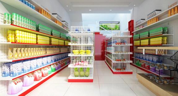 Thiết kế nội thất siêu thị này đem đến một không gian rất đẹp mắt