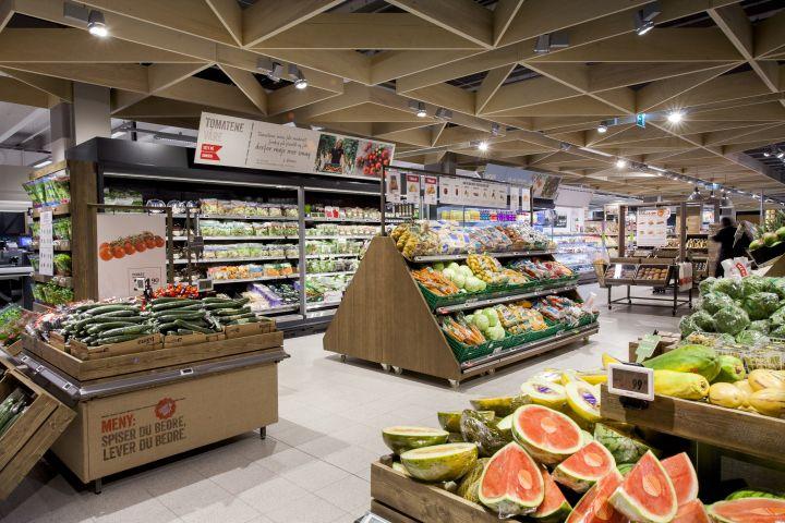 Mẫu thiết kế siêu thị này đã tạo ra một ấn tượng sang trọng