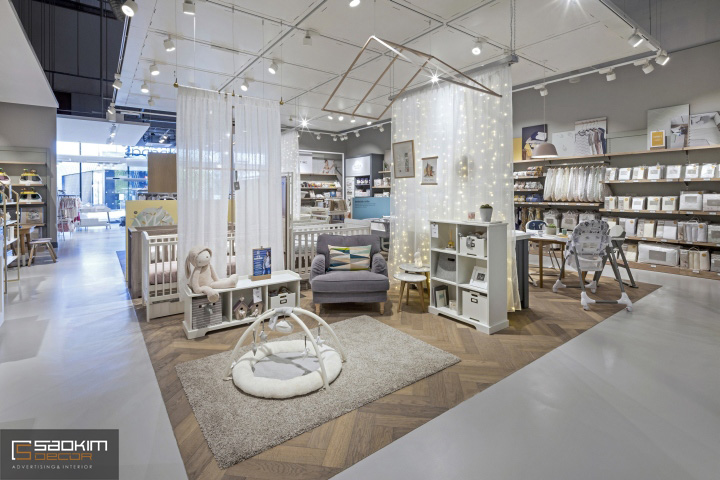Thiết kế siêu thị mini mẹ và bé tinh tế, thu hút