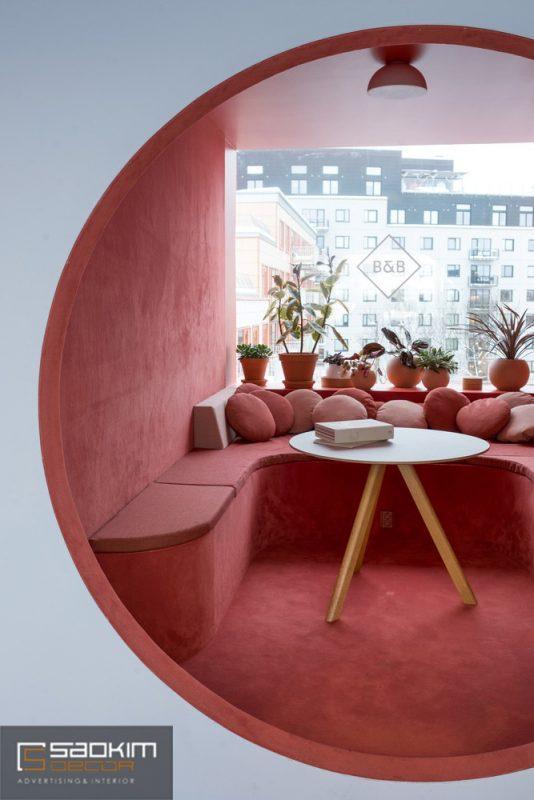 Thiết kế văn phòng với không gian nghỉ ngơi, thư giãn