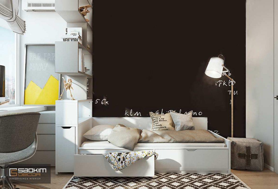 Thiết kế nội thất phòng ngủ cho bé chung cư Golden Land