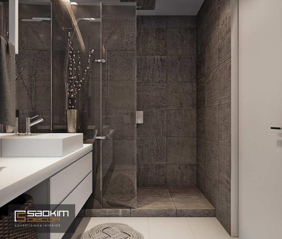 Thiết kế nội thất phòng tắm chung cư Golden Land