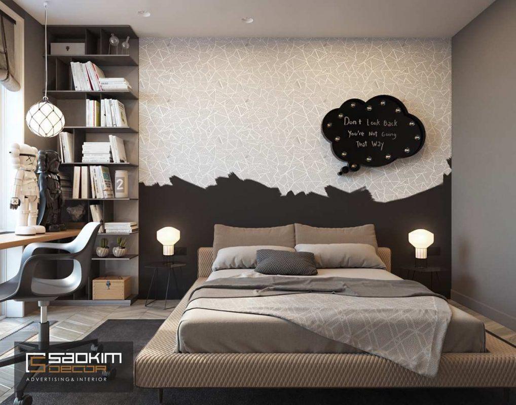 Thiết kế nội thất phòng ngủ chung cư Golden Land