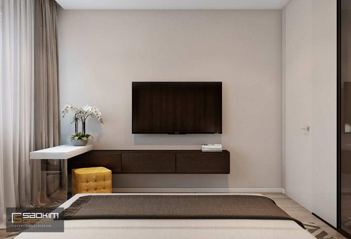 Thiết kế nội thất phòng ngủ master chung cư Golden Land