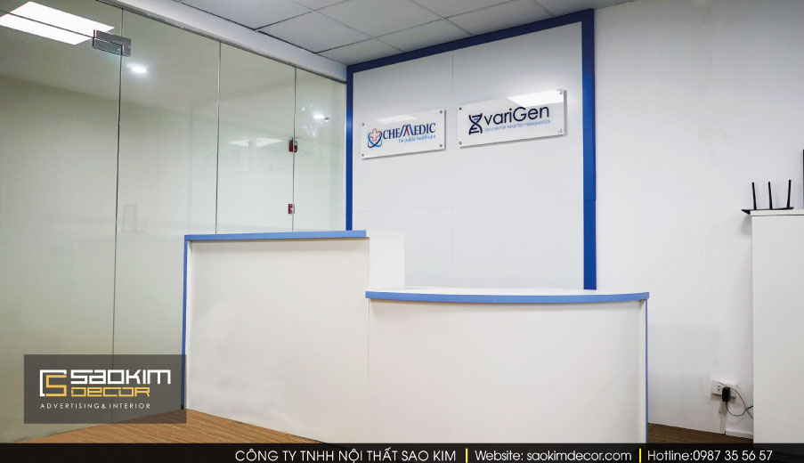 Thiết kế nội thất văn phòng Chemedic