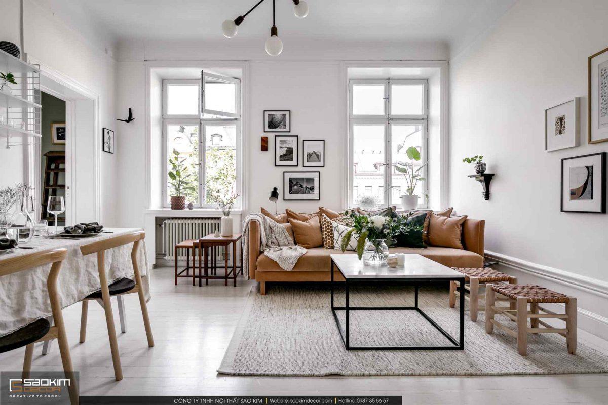 Mẫu thiết kế nội thất chung cư scandinavian
