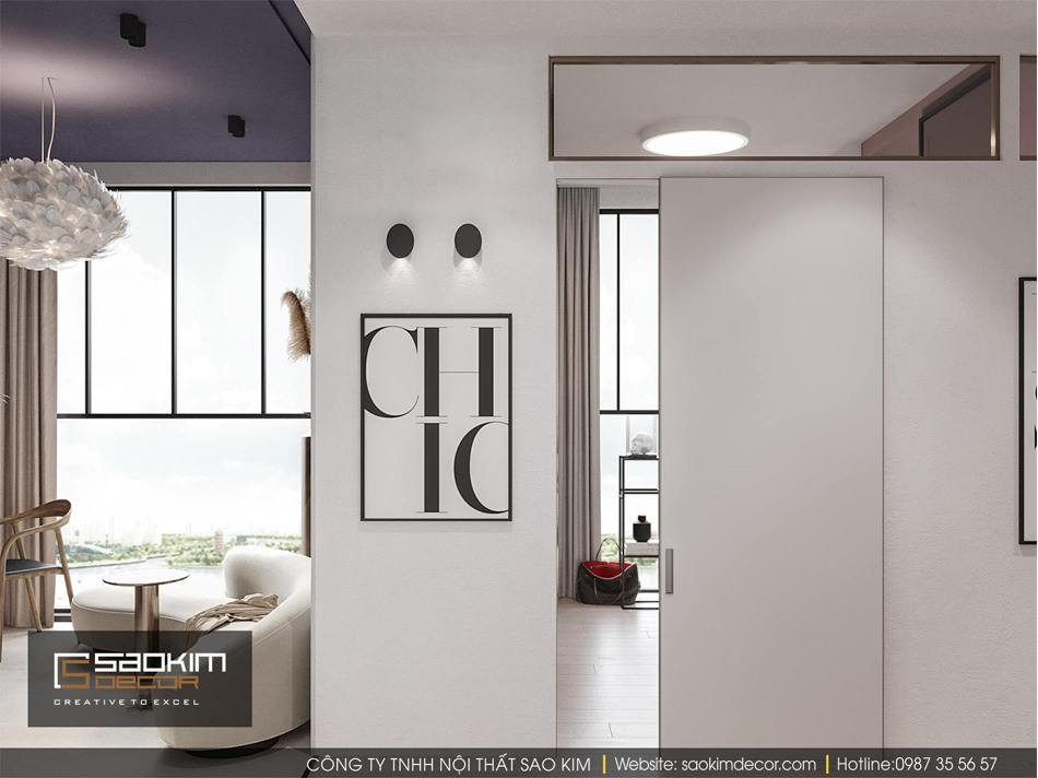 Thiết kế nội thất chung cư hiện đại Vinhome D'capitale