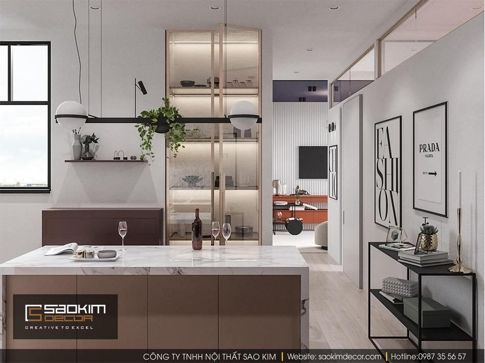 Thiết kế phòng bếp chung cư Vinhome D'capitale
