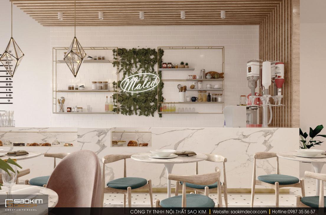 Thiết kế nội thất cửa hàng đẹp