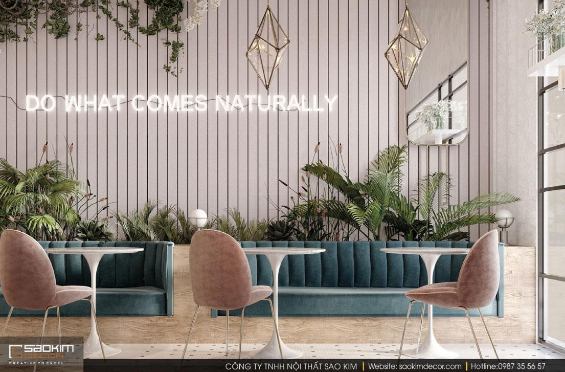 Thiết kế cửa hàng cafe kiêm shop hoa