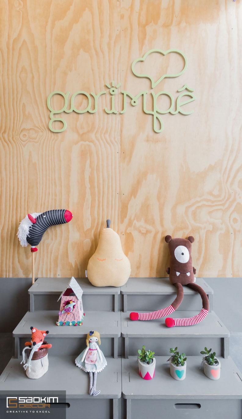 Thiết kế siêu thị mini mẹ và bé Garimpê