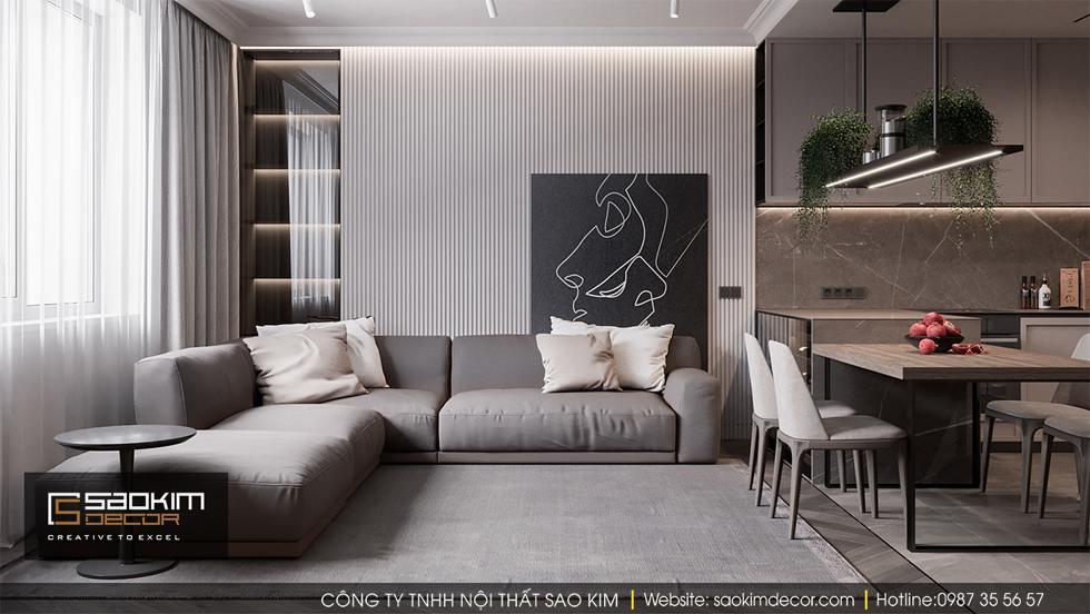 Thiết kế chung cư 3 phòng ngủ Dream Center Home