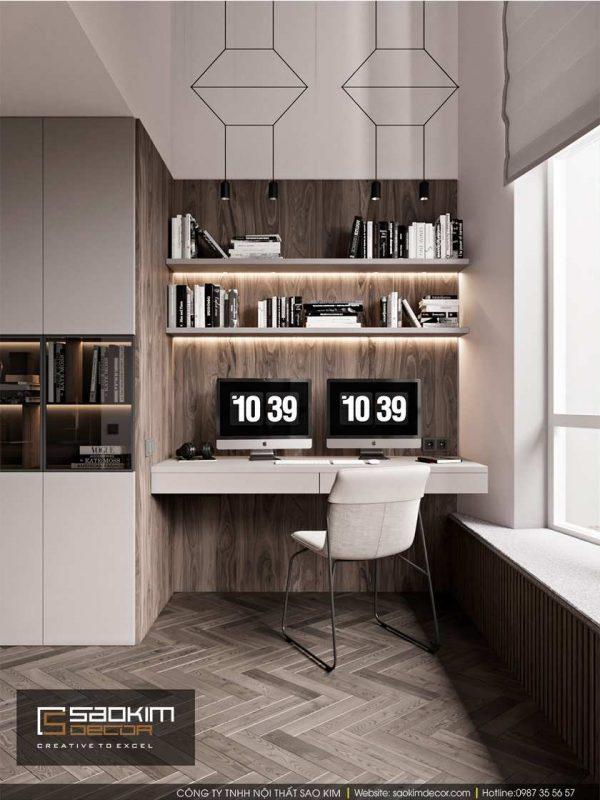 Thiết kế phòng ngủ chung cư Dream Center Home