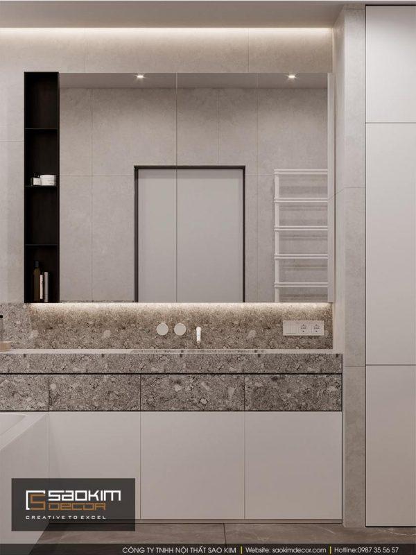 Thiết kế phòng tắm chung cư Dream Center Home