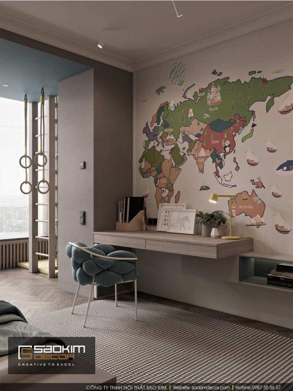 Thiết kế phòng ngủ chung cư cho bé Dream Center Home