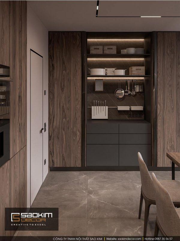 Thiết kế phòng bếp chung cư Dream Center Home