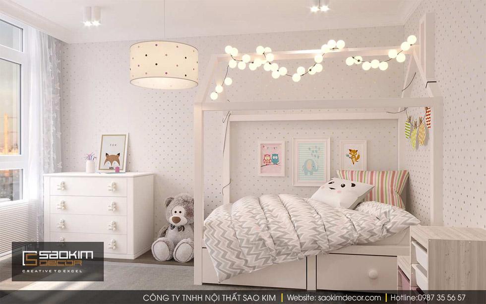 Thiết kế phòng ngủ chung cư cho bé -  Gold Tower Nguyễn Trãi