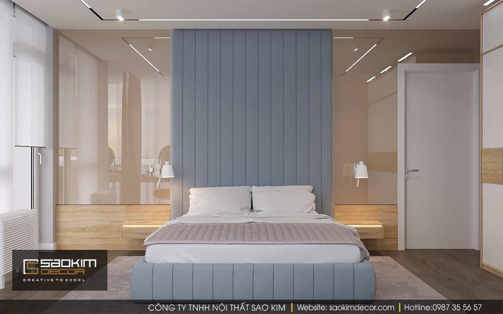 Thiết kế phòng ngủ chung cư Gold Tower Nguyễn Trãi