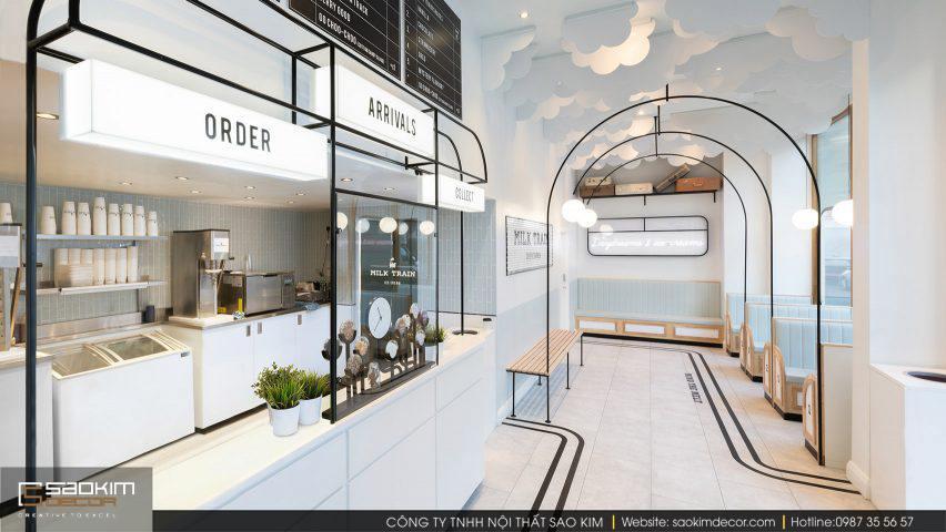 Thiết kế cửa hàng cafe Milk Train
