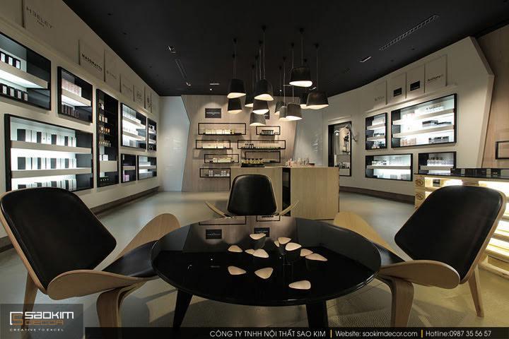 Thiết kế nội thất cửa hàng mỹ phẩm