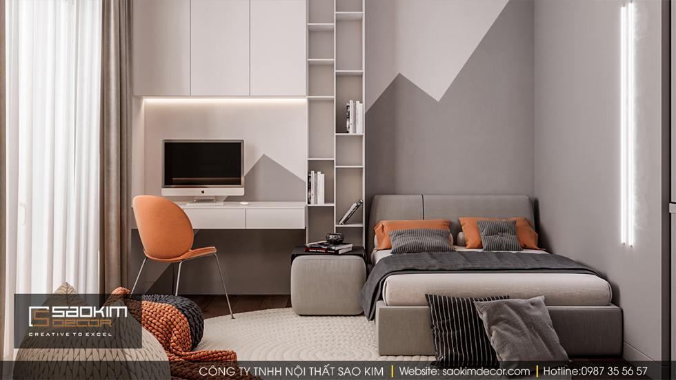 Thiết kế phòng ngủ chung cư cho bé - Hapulico Complex
